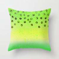 lime and kiwi  Throw Pillow