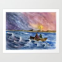 Storm Chased Art Print