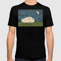 Three Sheeps To The Wind Mens Fitted Tee Black SMALL