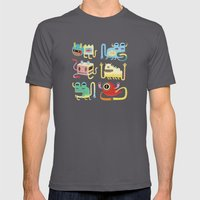 Petits Monstres  Mens Fitted Tee Asphalt SMALL