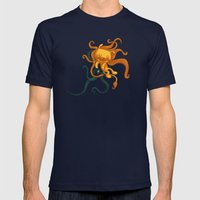 The Magical Lion Mens Fitted Tee Navy SMALL