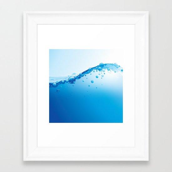 Full of Water Framed Art Print