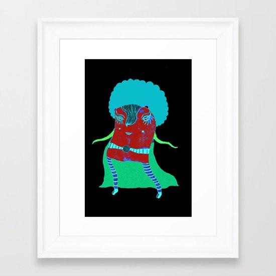 Afro Heroine  Framed Art Print