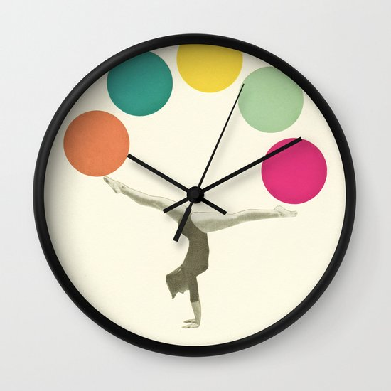 Gymnastics II Wall Clock