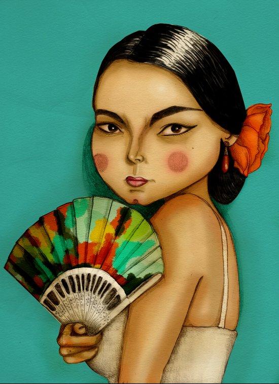 Lola Flores Canvas Print