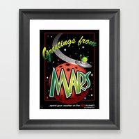 Greetings From Mars! Framed Art Print