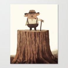 Lumberpig Canvas Print