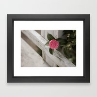 Pink Porch Flower Framed Art Print