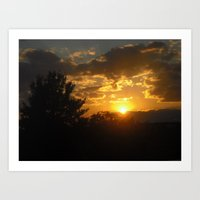 Silhouette Sunset Art Print