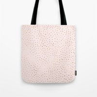 Dotted Gold & Pink Tote Bag