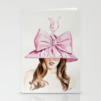 Pink Derby Hat Stationery Cards