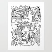 counting rabbits Art Print