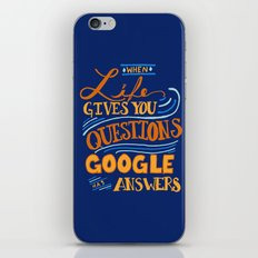 When Life gives you questions... iPhone & iPod Skin