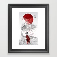 Japanese Poem Framed Art Print