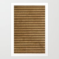 Striped Burlap Art Print