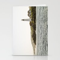 Lighthouse In Portland, … Stationery Cards