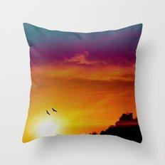 At the rising sun Throw Pillow