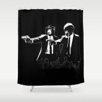 Divine Monkey Intervention Shower Curtain