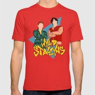 Bill And Ted Wyld Stally… Mens Fitted Tee Red SMALL
