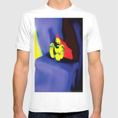 Lamentation in Blue, Yellow, and Orange Mens Fitted Tee White SMALL