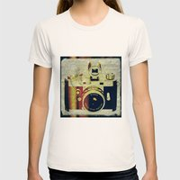 Minox camera Womens Fitted Tee Natural SMALL