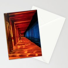 blue orange temple Stationery Cards