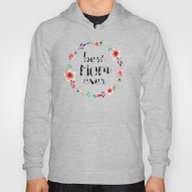 Best Mom Ever Floral Wre… Hoody