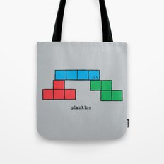 Planking Tote Bag
