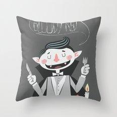 Vegan Vampire Throw Pillow