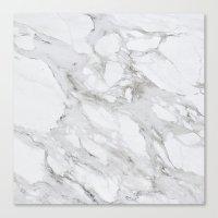 White Marble 01 Canvas Print