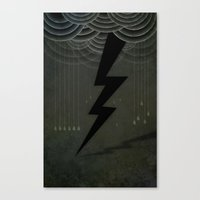 The Black Bolt Canvas Print