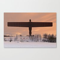 Angel of the North Winter Sunset Canvas Print