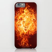 iPhone & iPod Case featuring Lion/off Power by Falcon White
