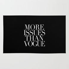 MORE ISSUES Rug