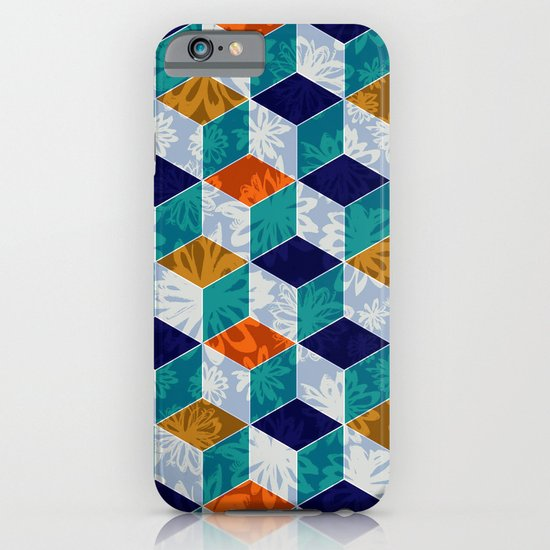 Cube Floral iPhone & iPod Case