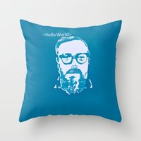Hello World - This Is A … Throw Pillow