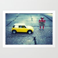 Support Your Local Robot Art Print