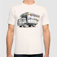 Pokesy Truck Mens Fitted Tee Natural SMALL