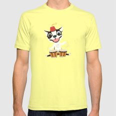 Boogie on Bongos Mens Fitted Tee Lemon SMALL