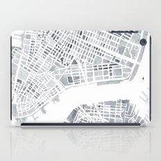 Map Manhattan Gray NYC iPad Case