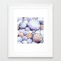 Sea Shells Amethyst Framed Art Print