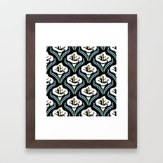 Calla Lily Pattern Framed Art Print