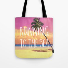 Running To The Sea Tote Bag