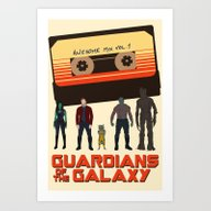 Art Print featuring GUARDIANS OF THE GALAXY by Kaitlin Smith