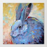 Be Still - Rabbit Bunny … Canvas Print