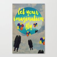 Vintage Quotes Collection -- Let Your Imagination Fly Canvas Print