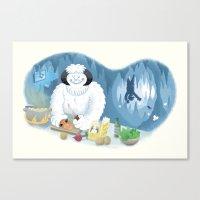 Frozen Dinner Canvas Print