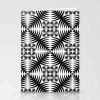 Geometric Damask Pattern Stationery Cards