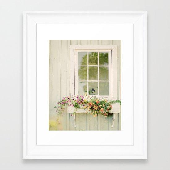 WINDOW PERFECT  Framed Art Print