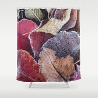 Frosty Ground Cover Shower Curtain